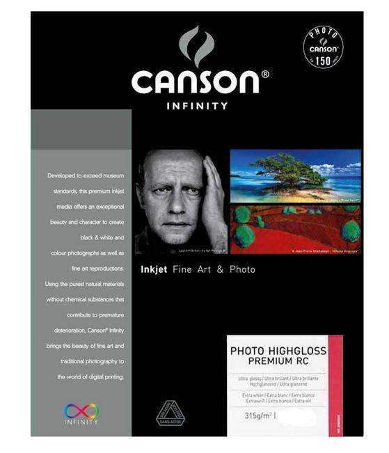 CANSON PHOTO HIGHGLOSS PREMIUM RC 315gr A4 - 10F