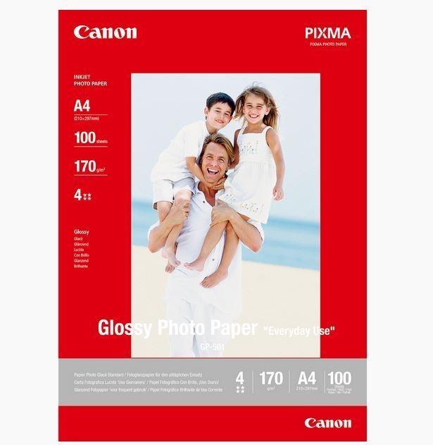 CANON GP-501 GLOSSY PHOTO PAPER A4-100FLS