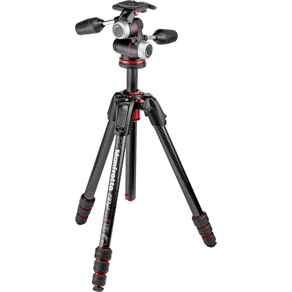 MANFROTTO MT190GO + MHXPRO-3W CARBONO